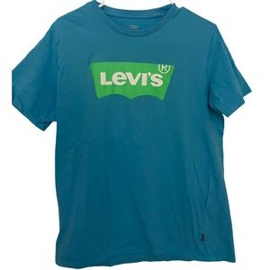 Levi's Mens Blue Logo T-Shirt Size Medium